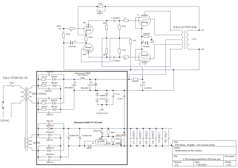 6V6 PP Amp Schematic