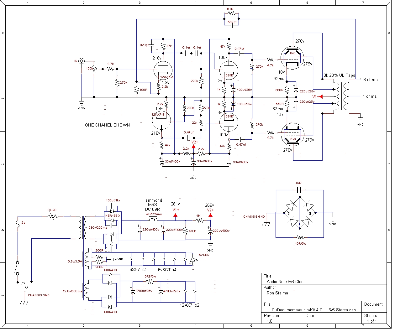 Audionote 6v6 Kit 4 clone Schematic